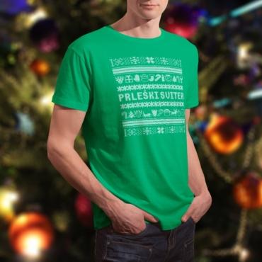 Prleški sviter moški - kelly zelena